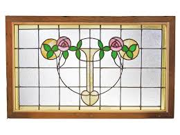 macintosh rose stained glass window
