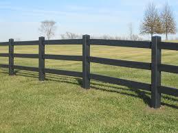 Black 3 Plank Fence