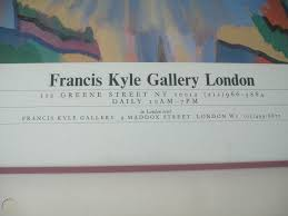 Adrian George 'First New York Exhibition' Promotional Poster Mounted Glass  Frame   #1777222414