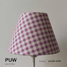 lamp shade for lighting grid pattern