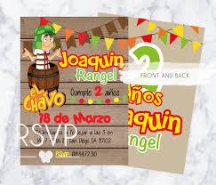 Invitacion A La Fiesta De Cumpleanos De El Chavo Etsy