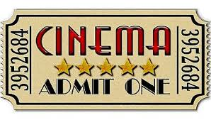 22 Huge Admit One Home Movie Theater Cinema Ticket Removable Canvas Wall Decal 15 75 Picclick