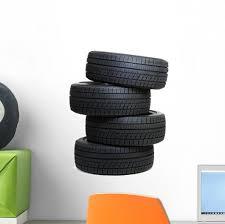 Car Tires Wall Decal Wallmonkeys Com