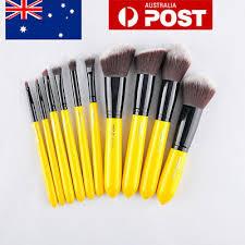 au 10pcs yellow makeup brushes