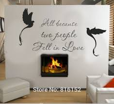 Decals Stickers Vinyl Art Home Garden All Because Two People Fell In Love Vinyl Wall Decal Sticker Decor Letters Art Adrp Fournitures Fr