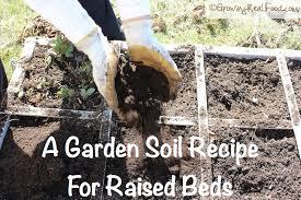 how to make garden soil for raised beds