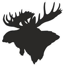 Moose Head Silhouette Decal Sticker