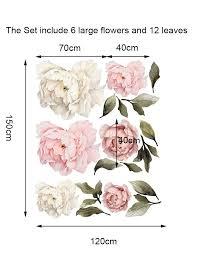 Giant Peony Rose Flower Wall Sticker Girls Room Decal Baby Nursery Decor Mural Ebay