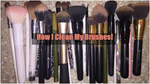 clean my makeup brushes using dove soap