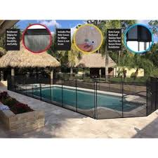 Sentry Safety 4ft X 12ft Black Removable Child Barrier Pool Safety Mesh Fence In The Pool Safety Barrier Panels Department At Lowes Com