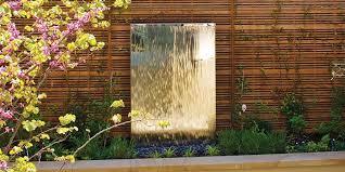 contemporary water feature garden