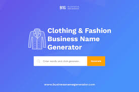 clothing fashion brand name generator