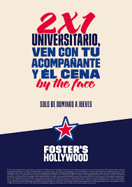 Vuelve El 2x1 Universitario En Foster S Hollywood Burgos