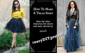 how to make a tulle skirt sgravalli