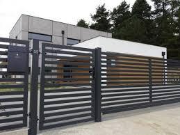 Horizontal Metal Fence Design Idea 34 Home Decor Outdoor Furniture Ideas Fence Design Modern Fence Design Modern Fence