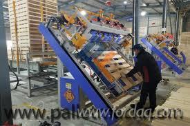 wood block pallet nailing making machine