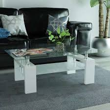 high gloss coffee table with lower