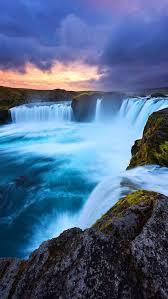earth waterfall iphone wallpaper