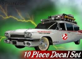 10 Piece Ghostbusters Ecto 1 Vehicle Decals Halloween Prop Vinyl Car Decal Set Ebay