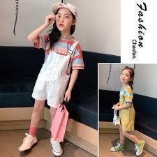 Set Áo Thun Ngắn Tay + Quần Yếm Thời Trang Mẫu 2020 Dành Cho Bé ...