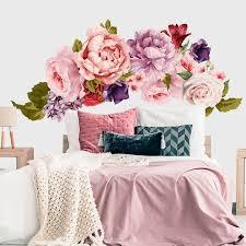 Headboard Decal Peony For Nursery Girl Wall Decal Flower Etsy