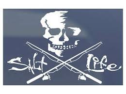 Salt Life Skull And Poles Decals