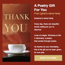 best poem a day from every day poems