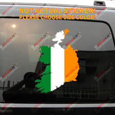 Flag Map Of Ireland Decal Sticker Car Vinyl Die Cut Pick Size No Background Car Stickers Aliexpress