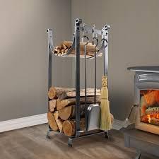 fireplace rack with tools wayfair