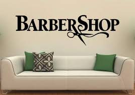 Barbershop Wall Decal Wall Vinyl Sticker Hairdressing Salon Interior Art Wall Murals Wall Barber Decor 1b01p Amazon Com