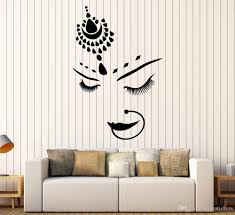 India Style Eyes Lashe Eyebrow Vinyl Wall Sticker Decal Hindu Bride Girl Beautiful Face Piercing Stickers Art Mural Poster Decor Stickers For Walls Decor Wall Decals From Joystickers 11 58 Dhgate Com