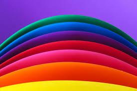 خطوط خلفية قوس قزح متعدد الألوان Hd المنحني عريضة عالية