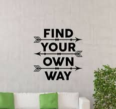 Find Your Own Way Wall Decal Inspirational Quote Arrow Decor Vinyl Sticker 158ct Ebay