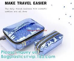 eva cosmetic bag with handle pvc