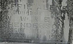Effie Alene Henderson (1918-1919) - Find A Grave Memorial