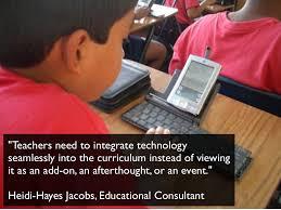 teachers need to integrate technology