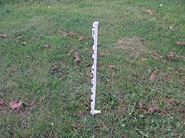 4ft White Plastic Electric Fence Posts Pack Of 20 Amazon Co Uk Pet Supplies