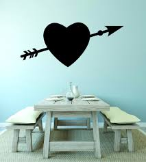 Vinyl Decal Heart Bow Arrow Valentines Day Love Home 20x40 Contemporary Wall Decals By Design With Vinyl