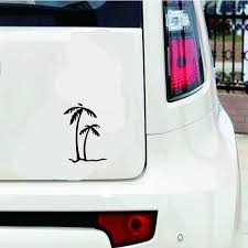 6color 2pcs 15 15 4cm Palm Tree Car Window Vinyl Decal Car Sticker Wish