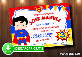 Invitacion Superman Para Editar Gratis Mega Idea