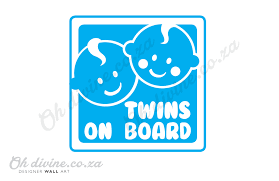 Sticker Twins On Board White Car Decal Oh Divine Online Shop For Kids And Babies
