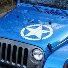 Army Star Distressed Military Hood Decal Jeep Wrangler Vinyl Graphic Sticker 2af Car Truck Graphics Decals Motors Tamerindsa Com Ar