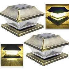 Solar Post Cap Lights Outdoor 4 X 4 Supe Buy Online In Trinidad And Tobago At Desertcart