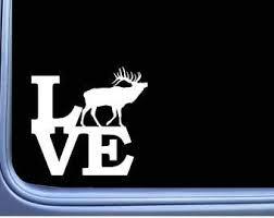 Amazon Com Elk Love L802 6 Inch Sticker Bugle Call Camo Hunting Bull Window Decal Laptop Car Truck Bumper Window Vinyl Decal Automotive
