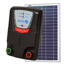 Solar Electric Fence Energiser 20km Remote 20 Watt Solar Panel Battery Regulator Commodore Australia