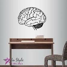 Vinyl Decal Human Brain Mind Genius Science Anatomy Class Wall Sticker 2096 Ebay