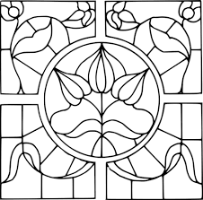 stained glass pattern coloring page