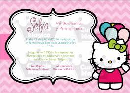 Kitty Tarjetas Invitaciones Cumpleanos Personalizadas X 10 60