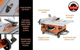 Ridgid Table Saw Reviews The Top 5 Ridgid Models Out There