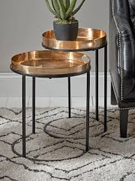 two brass topped nesting tables in 2020